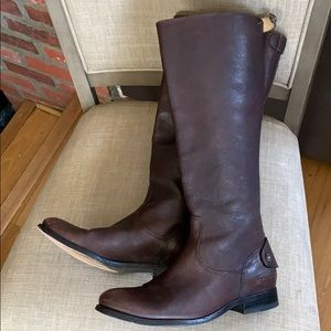Frye ridding boots brown size 8